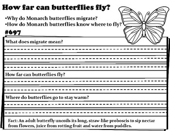 Wonderopolis Butterflies- Writing-Non-Fiction-Art-Science and Math