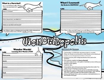 Wonderopolis Norwhal Writing-Non-Fiction-Math- Craft Unit