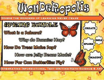Wonderopolis Spring BUNDLE Writing-Non-Fiction-Math-Science-Poem-Craft Unit