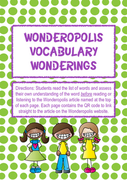 Wonderopolis Vocabulary Wonderings