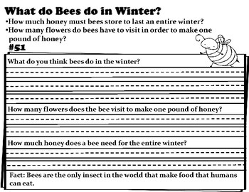 Wonderopolis What Do Bees Do In Winter Writing-Informational Text-Craft