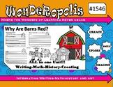Wonderopolis Why Are Barns Red Writing-Math-History-Art Unit
