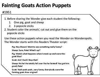Wonderopolis Fainting Goats Writing-Non-Fiction-Math- Craft Unit