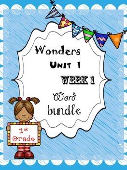 Wonders 1.1 Word Bundle
