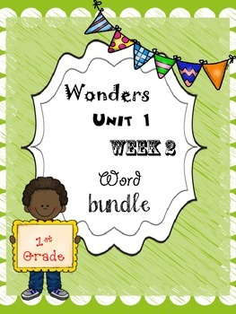 Wonders 1.2 Word Bundle