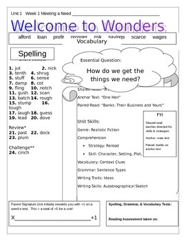 McGraw-Hill  Wonders Unit 1