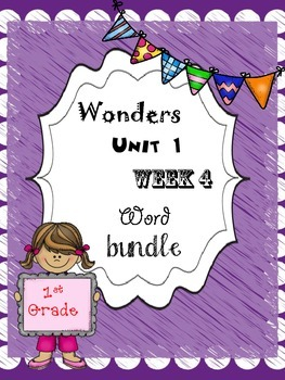 Wonders 1.4 Word Bundle