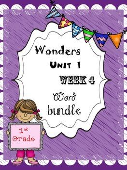 Wonders 1.4 Word Bundle