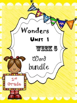 Wonders 1.5 Word Bundle