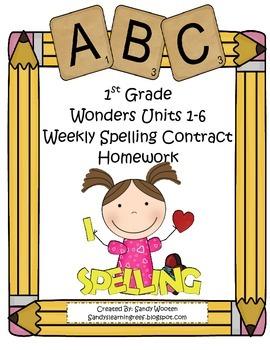 Wonders McGraw-Hill Differentiated 1st Spelling Homework U