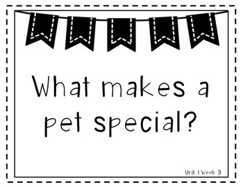 Wonders 1st Grade Essential Questions Units 1-6 Black and White Version