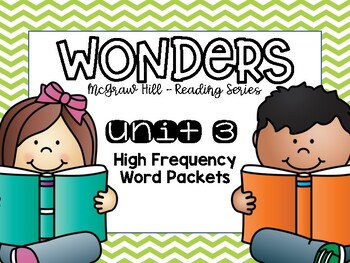 Wonders 1st Grade High Frequency Words Unit 3