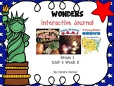Wonders 1st Grade Interactive Journal Unit 6- Week 5