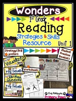 Wonders 1st Grade Reading Comprehension Strategies and Skills Resource Unit 1