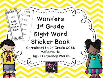 Wonders 1st Grade Sight Word Sticker Book for McGraw Hill