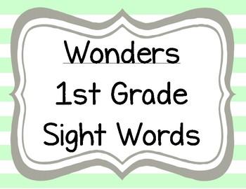 Wonders 1st Grade Sight Words