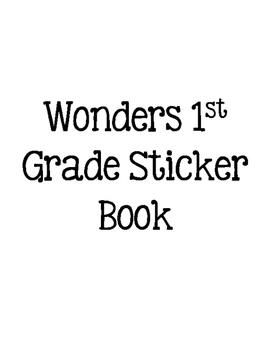 Wonders 1st Grade Sight Words Sticker Book
