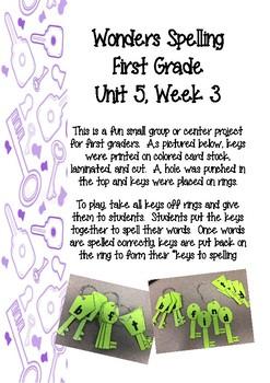 Wonders 1st Grade Spelling Keys 5-3