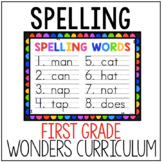 First Grade Wonders Spelling List
