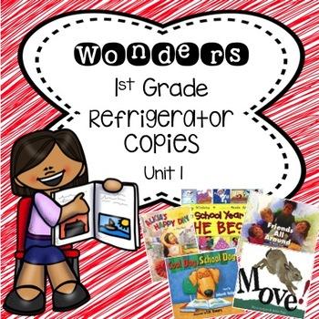 Wonders 1st Grade Unit 1 Refrigerator Copy