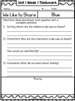Wonders 1st Grade Unit 1 Week 1 Literature Circles