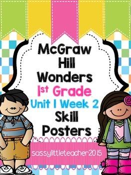 Wonders 1st Grade Unit 1 Week 2 Posters