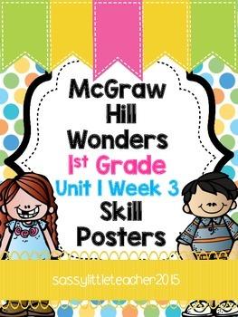 Wonders 1st Grade Unit 1 Week 3 Posters
