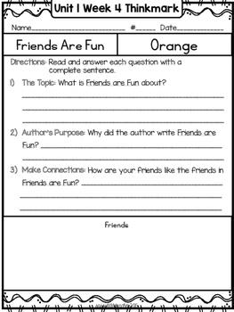 Wonders 1st Grade Unit 1 Week 4 Literature Circles