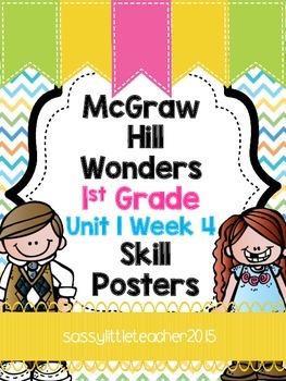 Wonders 1st Grade Unit 1 Week 4 Posters