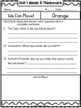 Wonders 1st Grade Unit 1 Week 5 Literature Circles