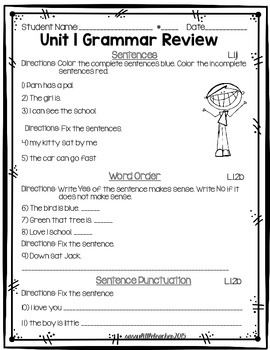 Wonders 1st Grade Unit 1 Week 6 Activities and Assessment