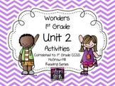 Wonders 1st Grade Unit 2 Activities, Weeks 1-5