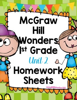 Wonders 1st Grade Unit 2 Homework Sheets