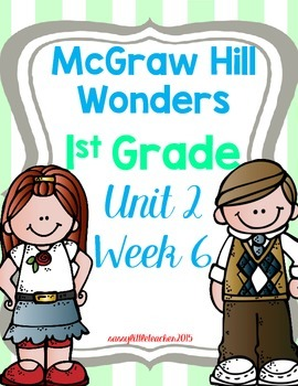 Wonders 1st Grade Unit 2 Week 6 Activities