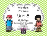 Wonders 1st Grade Unit 3 Activities, Weeks 1-5
