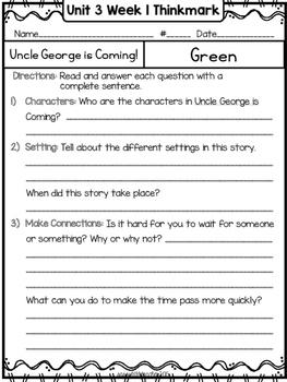 Wonders 1st Grade Unit 3 Week 1 Literature Circles