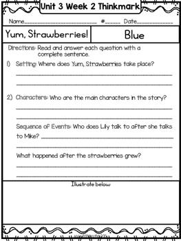 Wonders 1st Grade Unit 3 Week 2 Literature Circles