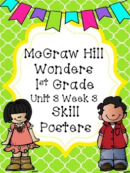 Wonders 1st Grade Unit 3 Week 3 Posters