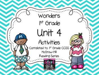 Wonders 1st Grade Unit 4 Activities Weeks 1-5