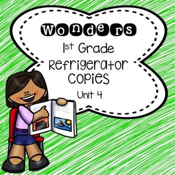 Wonders 1st Grade Unit 4 Refrigerator Copy