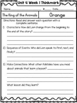 Wonders 1st Grade Unit 4 Week 1 Literature Circles
