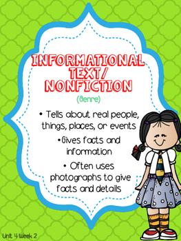 Wonders 1st Grade Unit 4 Week 2 Posters