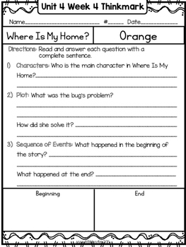 Wonders 1st Grade Unit 4 Week 4 Literature Circles