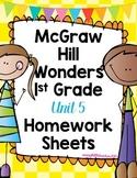 Wonders 1st Grade Unit 5 Homework Sheets