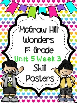 Wonders 1st Grade Unit 5 Week 3 Posters
