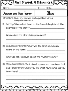 Wonders 1st Grade Unit 5 Week 4 Literature Circles