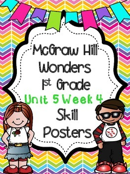 Wonders 1st Grade Unit 5 Week 4 Posters