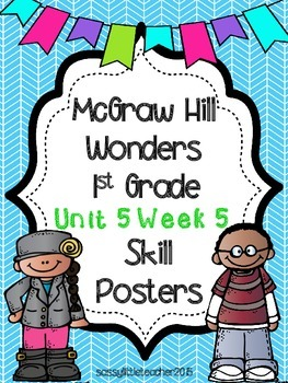 Wonders 1st Grade Unit 5 Week 5 Posters