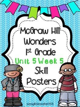 Wonders 1st Grade Unit 5 Week 5 Posters