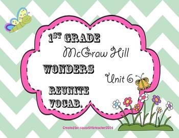 Wonders 1st Grade Unit 6 Reunite Vocabulary